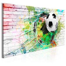 BILDER LEINWAND BILD Fußball Sport Kinderzimmer 120x80 WANDBILDER KUNSTDRUCK