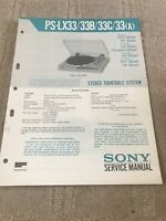 sony PS-PS-LX33/33B/33C/33  service manual for stereo turntable system