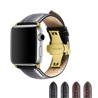 Calf Leather Strap Wrist Band for Apple Watch Series 1 2 3 4 38mm/40mm/42mm/44mm