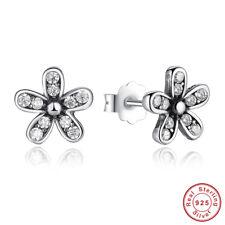 Women Authentic S925 Sterling Silver Earrings Cubic Zircon Ear Stud Earrings