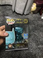 Funko Pop Heroes #144 Batman Teal Chrome 2019 SDCC Summer Convention Exclusive