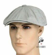 Mens Newsboy Cap Baker Boy Hat 100% Cotton Quality One Size fits 57-59cm GREY