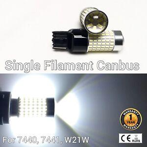 Brake Lights T20 7440 w21w 992 144 SMD 6K White LED Bulb M1 For AW Chry MAR