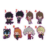 Anime persona 5 Rubber Keychain Key Ring Straps Rare  A