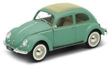 WELLY VW Beetle 1/18 Die Cast Car Green 18040WGREEN