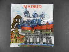 Madrid Aschenbecher Spanien Spain Ashtray,Souvenir,9 cm,neu,aus Glas !!