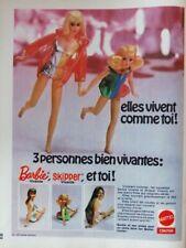 Publicité de presse (clipping) - jouet poupées Barbie Mattel