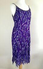 Vintage Sequin Dress. Purple. UK 12. Occasion. Gatsby. Peaky Blinders.Flapper