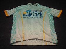 Kate Le Blanc CYSTIC FIBROSIS FOUNDATION V-GEAR Cyclist Jersey Men Club Cut Sz S