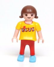 Playmobil Figure Dollhouse School Girl Child w/ I Love Boys Shirt 4186