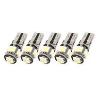 10PCS Libre de Error Canbus W5W T10 5050 5-SMD LED Blanco Luz Bulbo Lampara X3E8