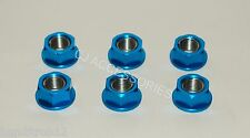 M10 Blue Anodised Sprocket Nuts Suzuki GSXR1100 GSXR1300 HAYABUSA B-KING GSXR400