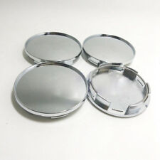 4Pcs 68mm Chrome Silver Car Wheel Center Hub Covers Caps Set No Logo Universal