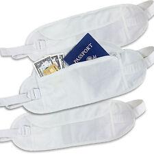 3pcs Pack Money Belt Wallet Cotton Travel Waist Pouch Passport Holder Hidden Bag