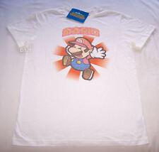Nintendo Super Paper Mario Mens White Printed T Shirt Size XS New