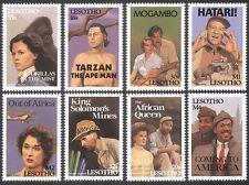 Lesotho 1991 Films/TARZAN/Gorilla/Plane/Car 8v  n16528
