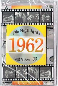Geburtstagskarte Die Highlights von 1962! Mit Video-CD Jahreschronik, NEU + OVP!