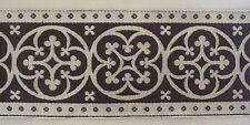 Very Wide, Religious Vestment Trim. Black & Silver By The Yard 3½: Wide