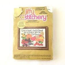 """Jiffy Stitchery """"God Is Great"""" Stitchery Kit #644 Vintage Sunset Designs"""