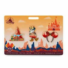 Minnie Mouse Main Attraction Big Thunder Mountain Pin Set - Ears, Train & Minnie