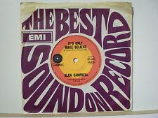 45 Vinyl Records Glen Campbell It's Only Make Believe