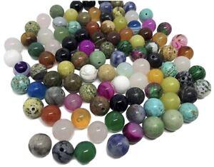 65 pcs Mixed Semi Precious Natural Stone 6mm Loose Beads
