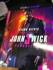 John Wick Chapter 3 Parabellum 4K ULTRA HD + BLU-RAY +SLIPCOVER - Brand New!