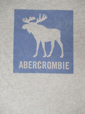 ABERCROMBIE & FITCH MOOSE - LARGE GRAY T-SHIRT - S151