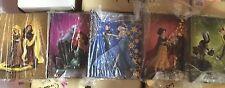 Lot of ALL 5 Disney Fairytale Designer Good Versus Evil Collection Journals LE