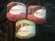 Lot of 3 Gedifra Baria 50g Cotton Blend #67601 #74201
