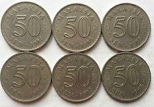 Malaysia 50 sen 1986 coin 6 pcs