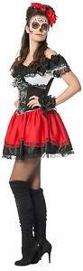 Tag der Toten Blumenkostüm für Damen NEU - Damen Karneval Fasching Verkleidung K