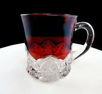 "GEORGE DUNCAN & SONS BUTTON ARCHES NO ENGRAVING RUBY FLASH 3 1/8"" MUG 1897-1920"