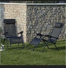 🔥2 X Zero Gravity Reclining Chair/ Sun Loungers 🔥FREE POSTAGE🚚
