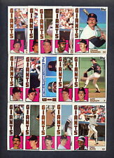1984 Topps San Francisco Giants TEAM SET w/Traded (34) Cards