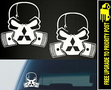 Mitsubishi Skull Mask For Evo Lancer Triton Race Drift Car Stickers Jdm decals