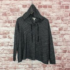 Eileen Fisher Women's Hoodie Sweater Charcoal Gray Black Plus Size 2X