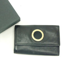 Bvlgari Key holder Key case Black Gold Woman Authentic Used Y4896