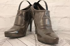 LONDON REBEL Grey Faux Leather Pointed Toe Ankle Boots Women Shoe RRP £65 UK 3.5