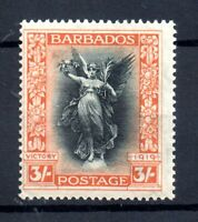 Barbados 1920-21 3/- black & orange SG211 LHM mint WS17822