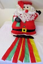 "Santa Claus Jingle Bell Wind Sock ~ Banner with Blinking Lights! 35"" Long"