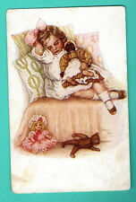 BY GUTMANN GIRL AND TOYS # 4932 VINTAGE POSTCARD PUBLISHER RUSSIA 251
