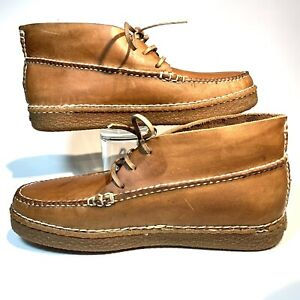 Cabelas Leather Chukkas Boots Shoes Mens Size 10.5 Excellent Shape!