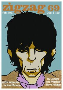 """Reproduction Alternate """"The Rolling Stones - ZigZag"""" Poster, Size A2"""