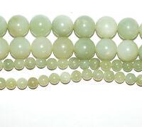 Neue Jade Perlen 4-12mm hellgrüne Kugeln glanz,1 Strang BACATUS Edelsteine #4836