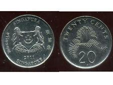 SINGAPOURE 20 cents  2011
