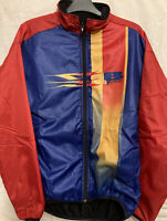 Retro Castelli Mens Winter Quilted Fleece Cycling Jacket Size Large  L'eroica