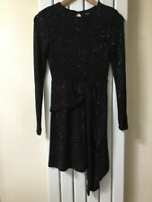 TOP SHOP LADIES BLACK SEQUIN OPEN BACK PARTY DRESS SIZE 8