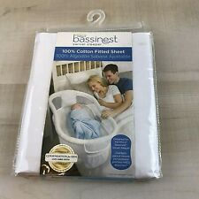 Halo Bassinest Swivel Sleeper 100% Cotton Fitted Sheet - White