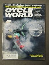 Vintage Cycle World Magazine September 1979  Kawasaki KLX250